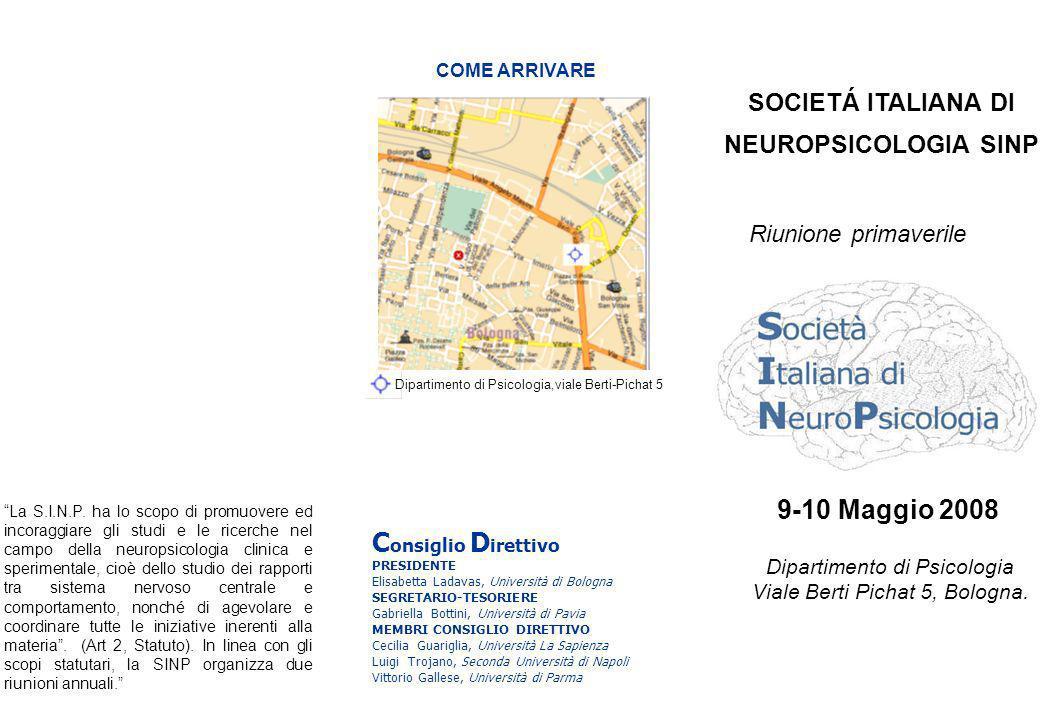 SOCIETÁ ITALIANA DI NEUROPSICOLOGIA SINP