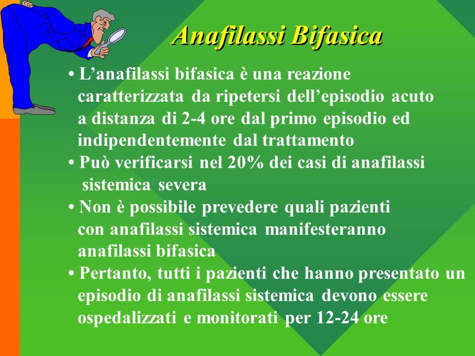 Anafilassi Bifasica • L'anafilassi bifasica è una reazione