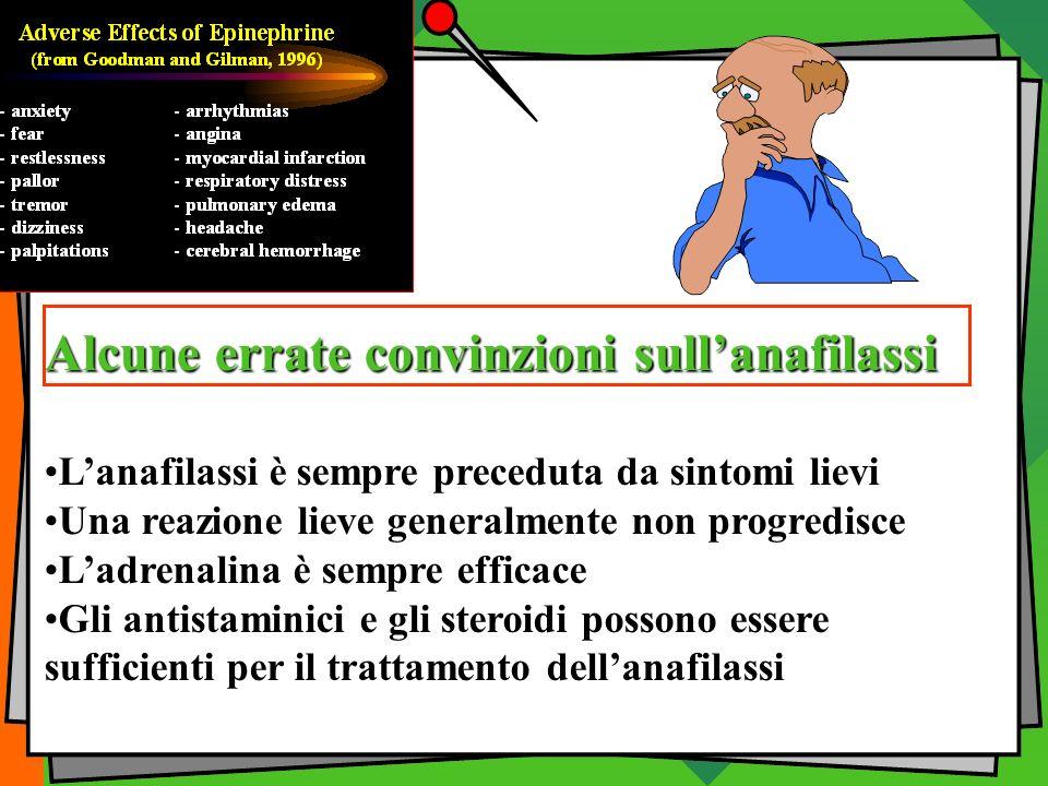 Alcune errate convinzioni sull'anafilassi