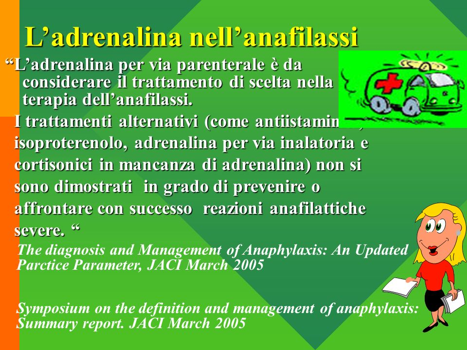 L'adrenalina nell'anafilassi