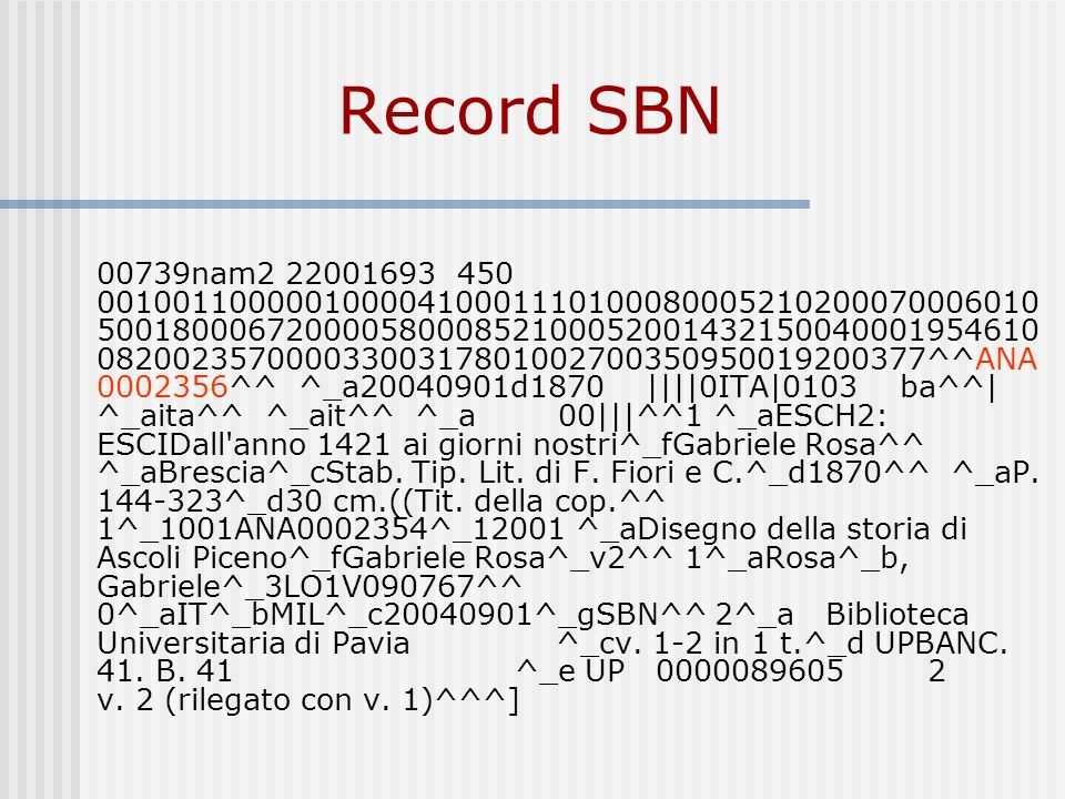 Record SBN