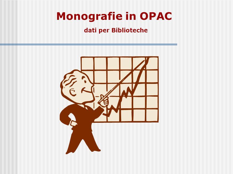 Monografie in OPAC dati per Biblioteche