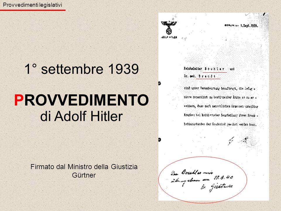 Firmato dal Ministro della Giustizia Gürtner