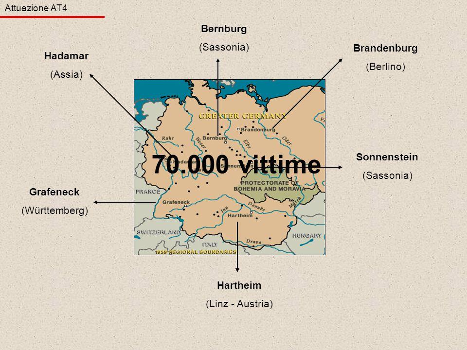 70.000 vittime Bernburg (Sassonia) Brandenburg (Berlino) Hadamar