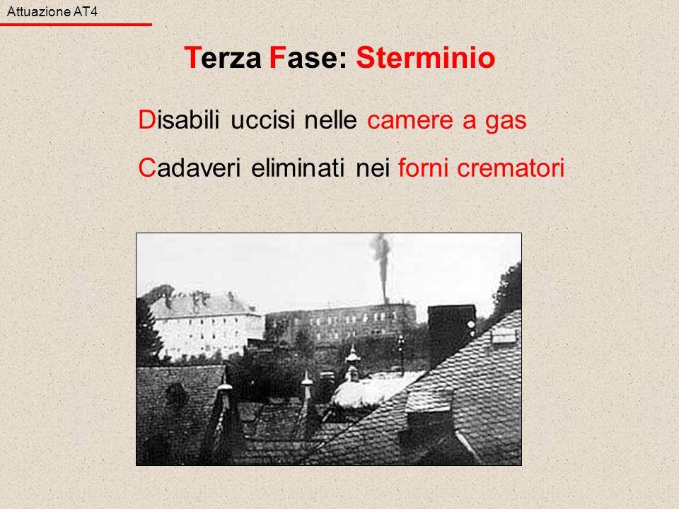 Terza Fase: Sterminio Disabili uccisi nelle camere a gas