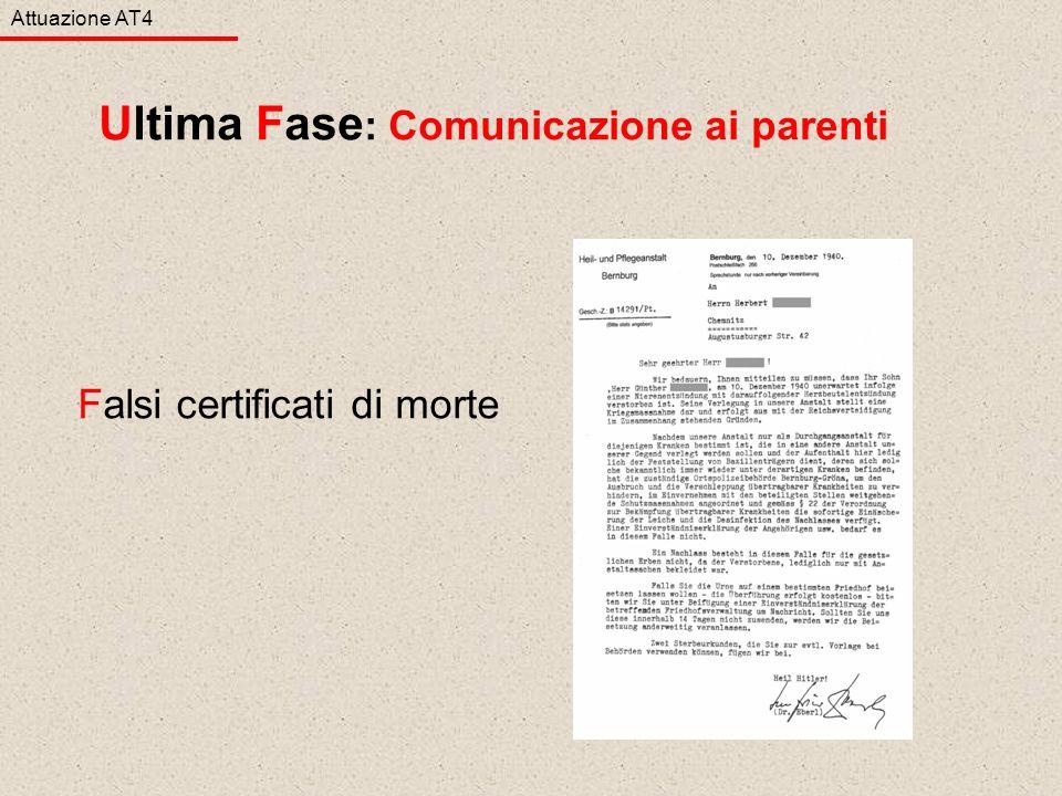 Falsi certificati di morte