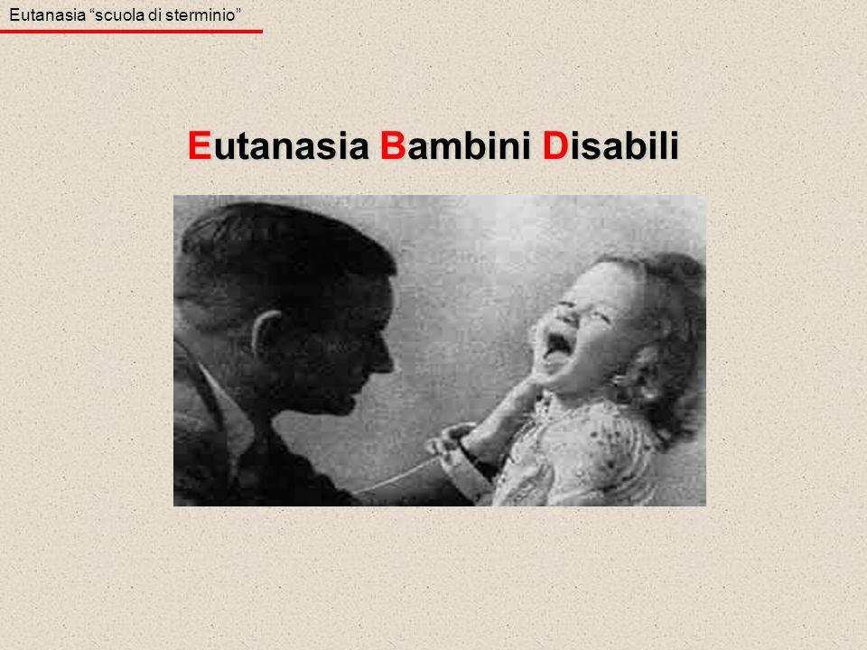 Eutanasia Bambini Disabili