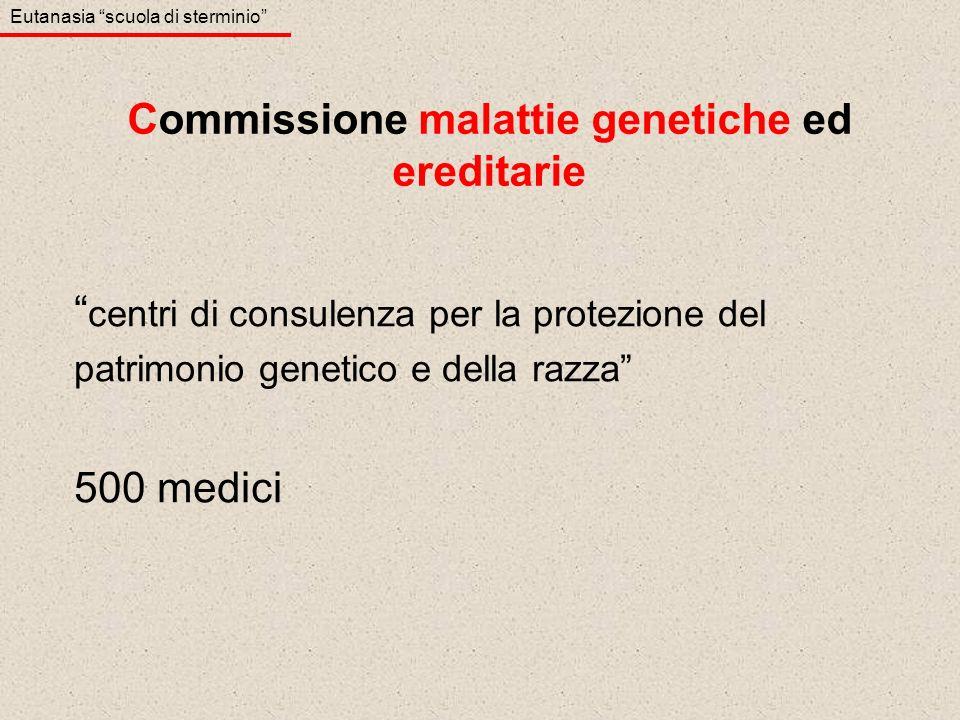 Commissione malattie genetiche ed ereditarie