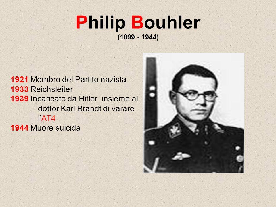 Philip Bouhler (1899 - 1944) 1921 Membro del Partito nazista