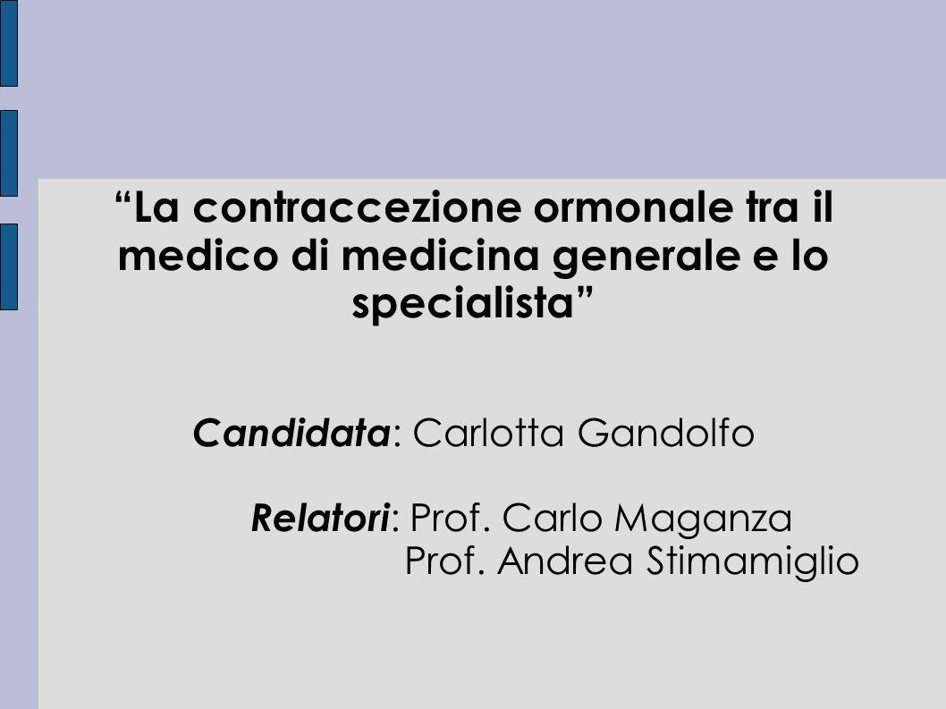 La contraccezione ormonale tra il medico di medicina generale e lo specialista