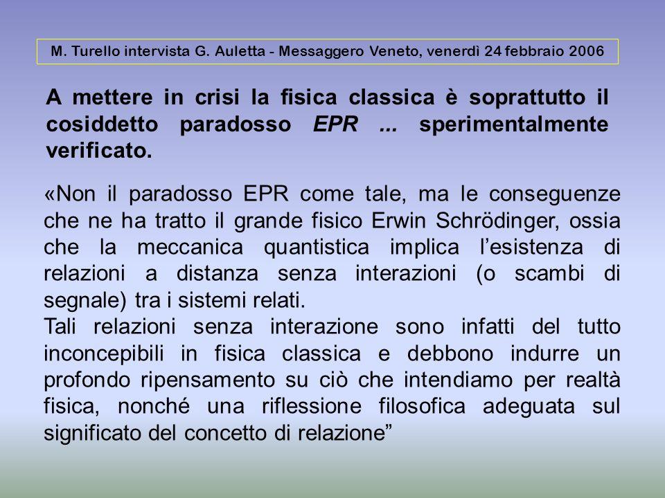 M. Turello intervista G. Auletta - Messaggero Veneto, venerdì 24 febbraio 2006