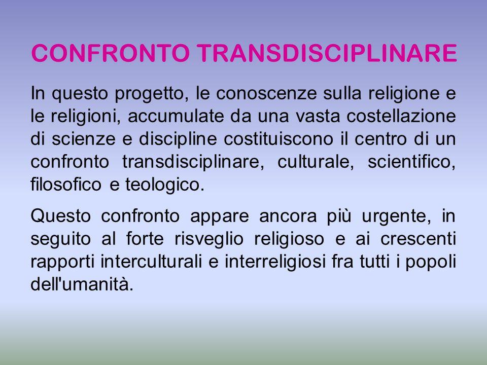 CONFRONTO TRANSDISCIPLINARE