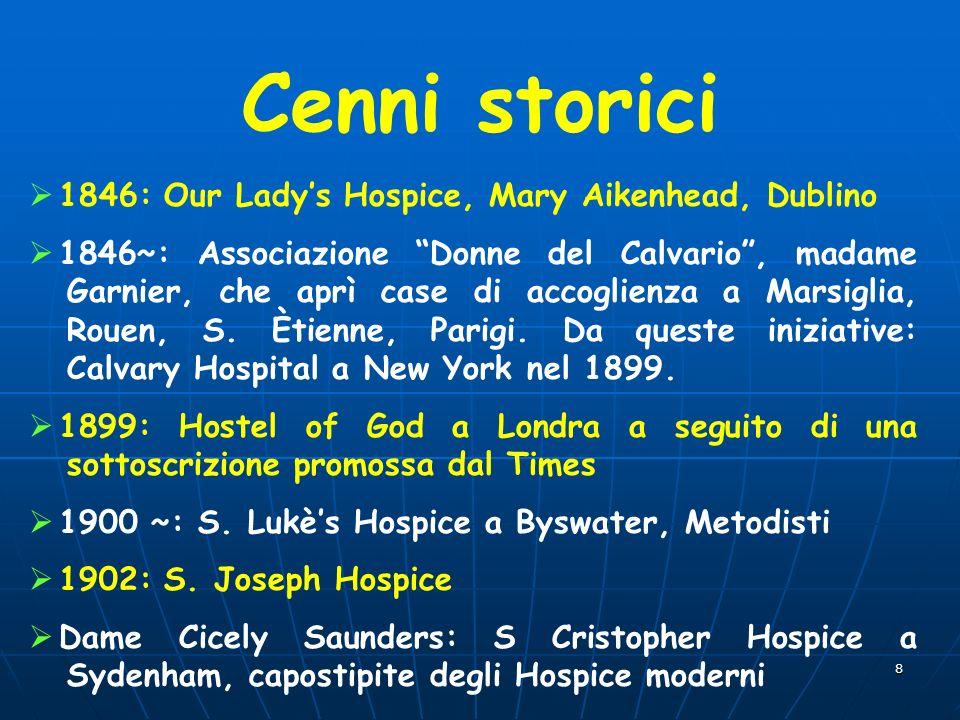Cenni storici 1846: Our Lady's Hospice, Mary Aikenhead, Dublino