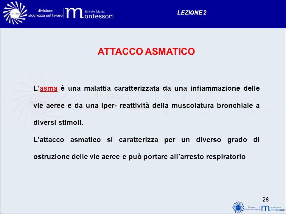 LEZIONE 2 ATTACCO ASMATICO.