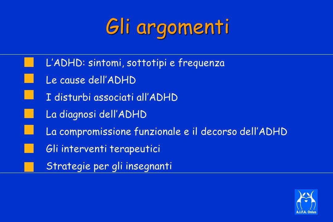 Gli argomenti L'ADHD: sintomi, sottotipi e frequenza