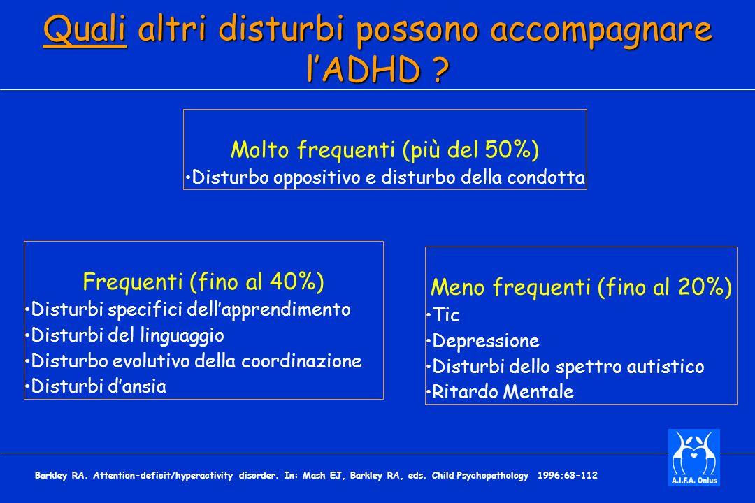Quali altri disturbi possono accompagnare l'ADHD