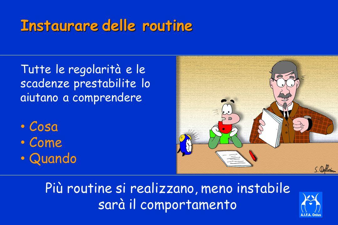 Instaurare delle routine