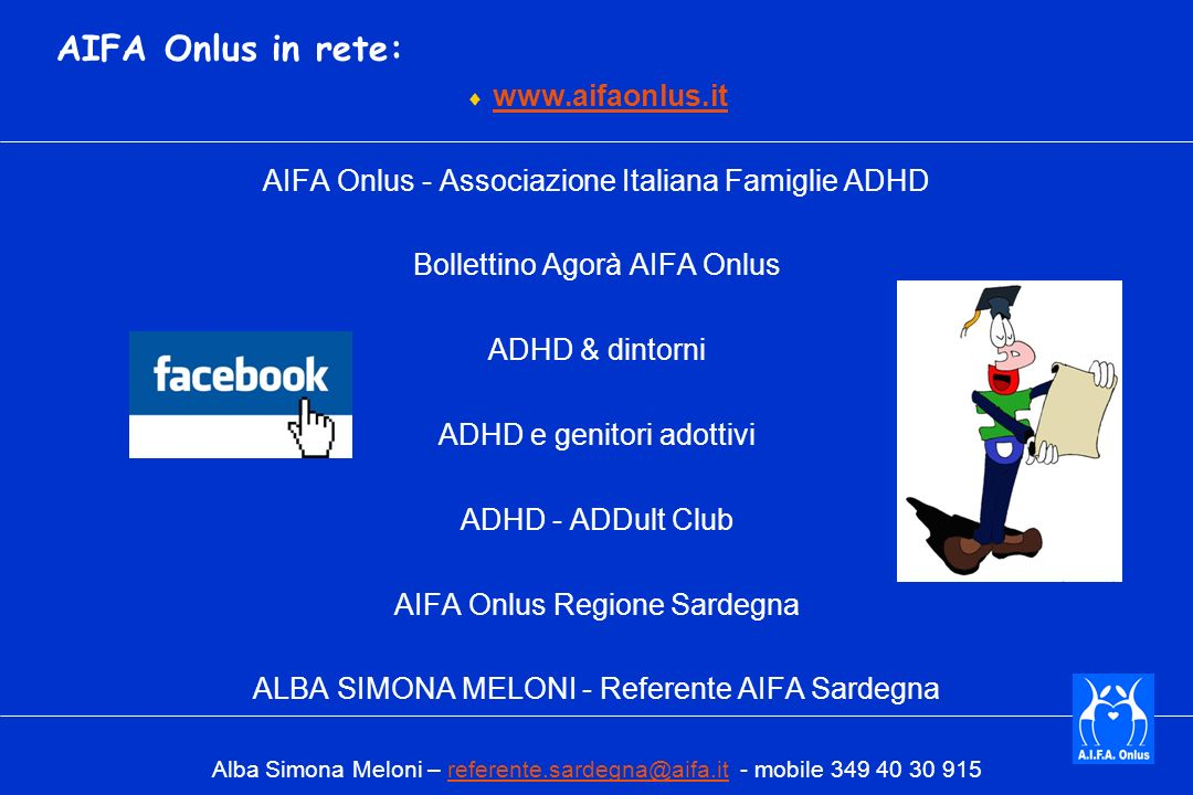 AIFA Onlus in rete: www.aifaonlus.it