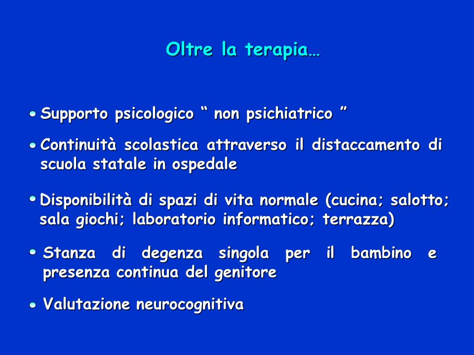 Oltre la terapia… Supporto psicologico non psichiatrico