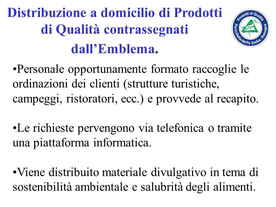 Distribuzione a domicilio di Prodotti di Qualità contrassegnati dall'Emblema.