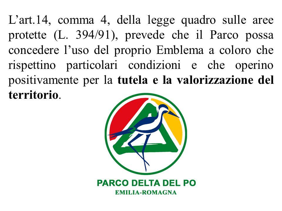 L'art. 14, comma 4, della legge quadro sulle aree protette (L
