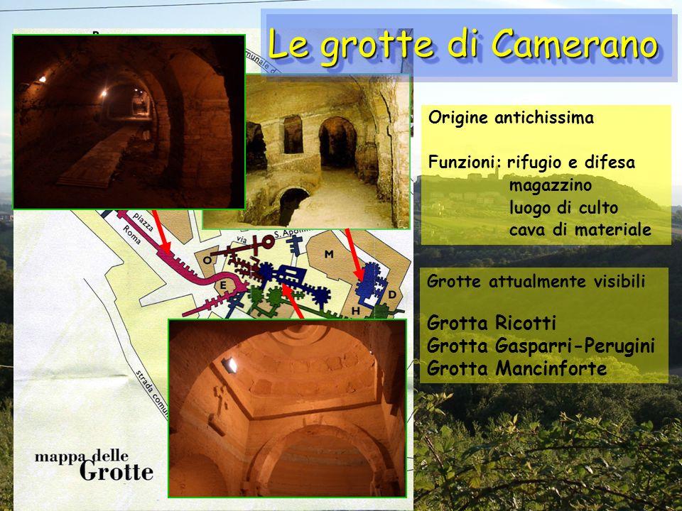 Le grotte di Camerano Grotta Ricotti Grotta Gasparri-Perugini
