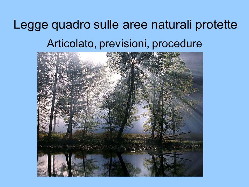 Legge quadro sulle aree naturali protette