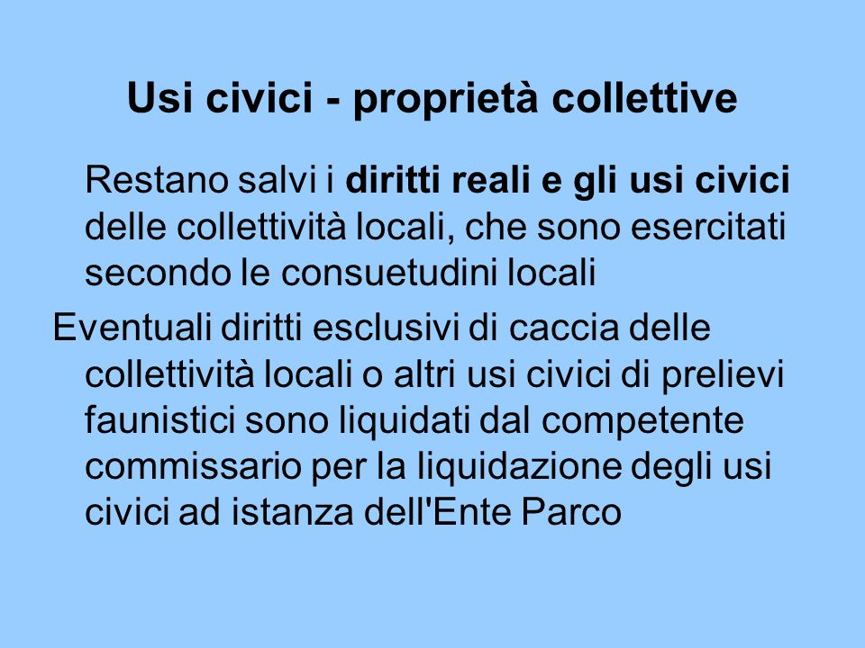Usi civici - proprietà collettive