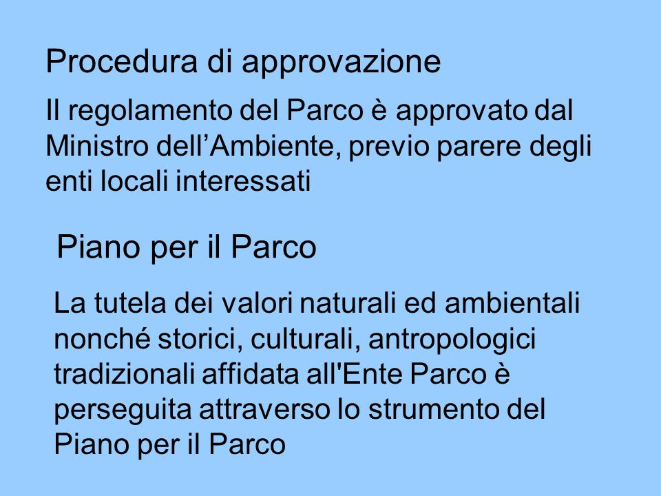 Procedura di approvazione