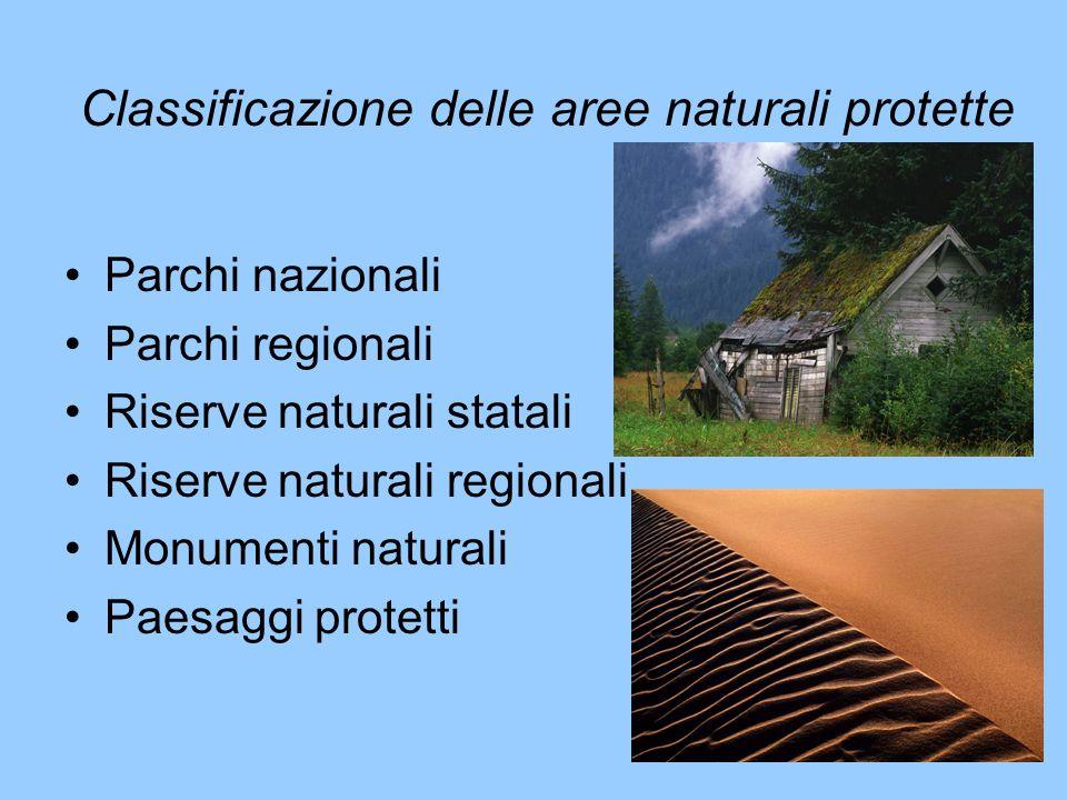 Classificazione delle aree naturali protette