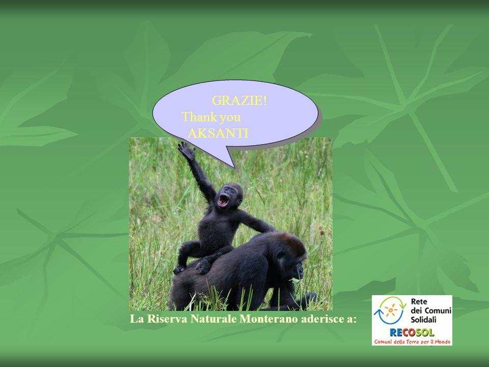 GRAZIE! Thank you AKSANTI La Riserva Naturale Monterano aderisce a: