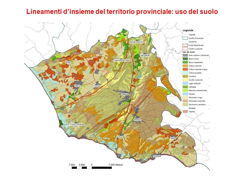 Lineamenti d'insieme del territorio provinciale: uso del suolo