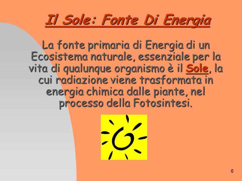 Il Sole: Fonte Di Energia