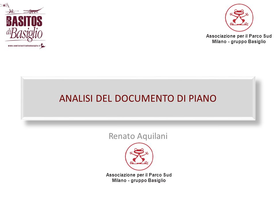 ANALISI DEL DOCUMENTO DI PIANO
