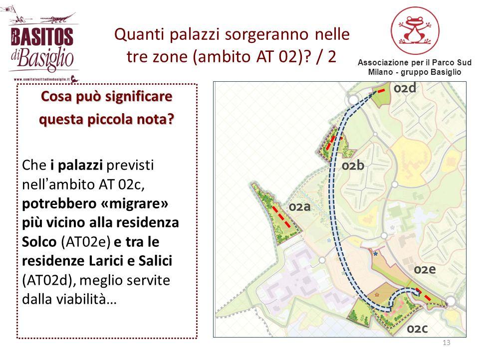 Quanti palazzi sorgeranno nelle tre zone (ambito AT 02) / 2