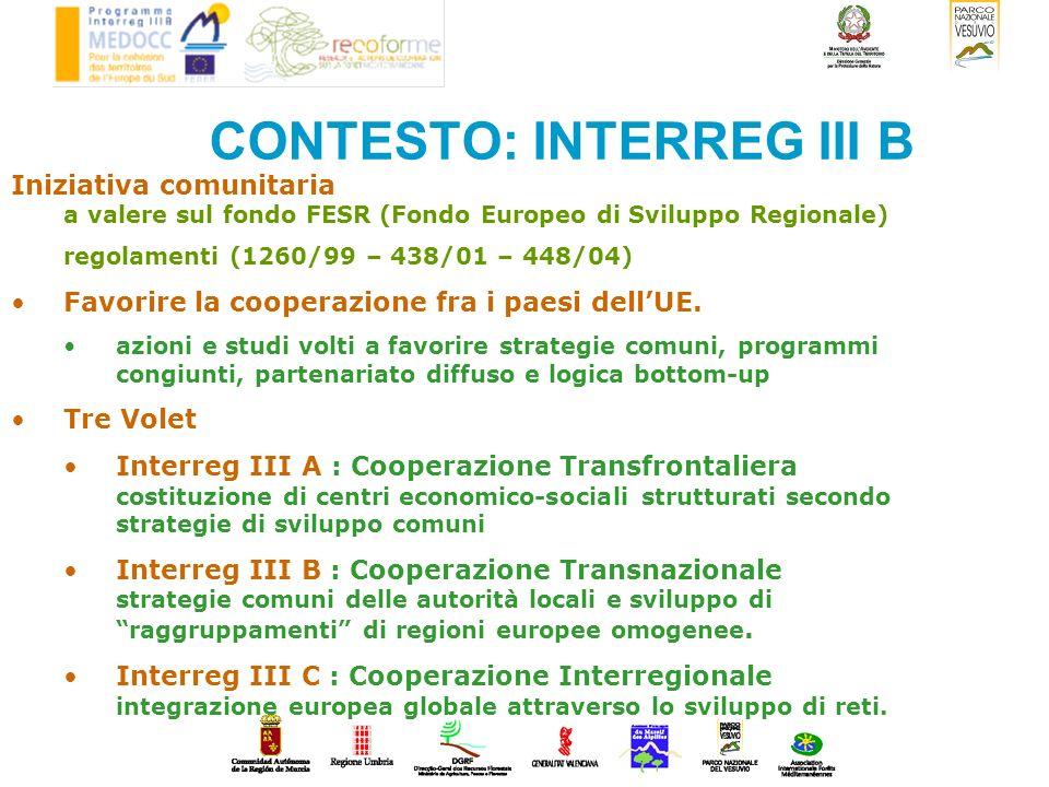 CONTESTO: INTERREG III B