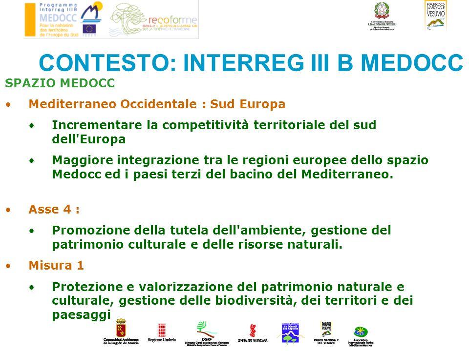 CONTESTO: INTERREG III B MEDOCC