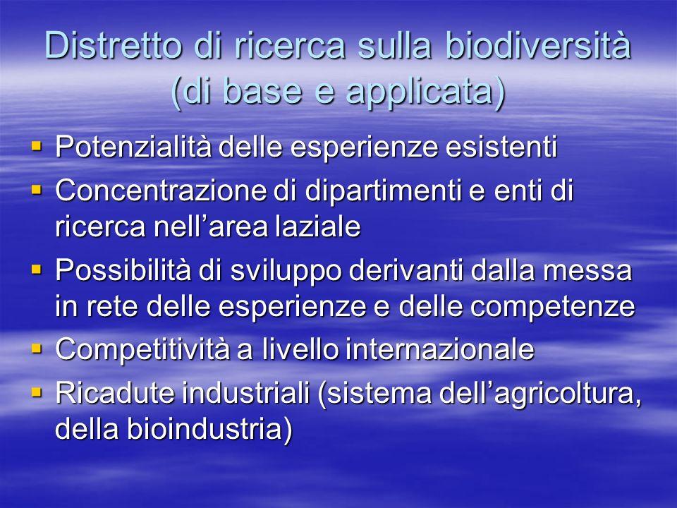 Distretto di ricerca sulla biodiversità (di base e applicata)