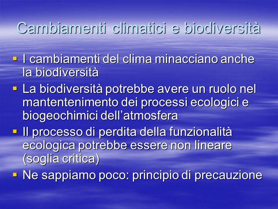Cambiamenti climatici e biodiversità