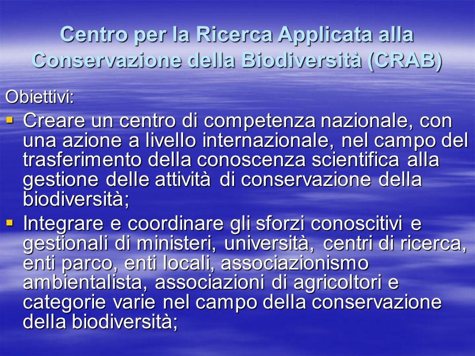 Centro per la Ricerca Applicata alla Conservazione della Biodiversità (CRAB)