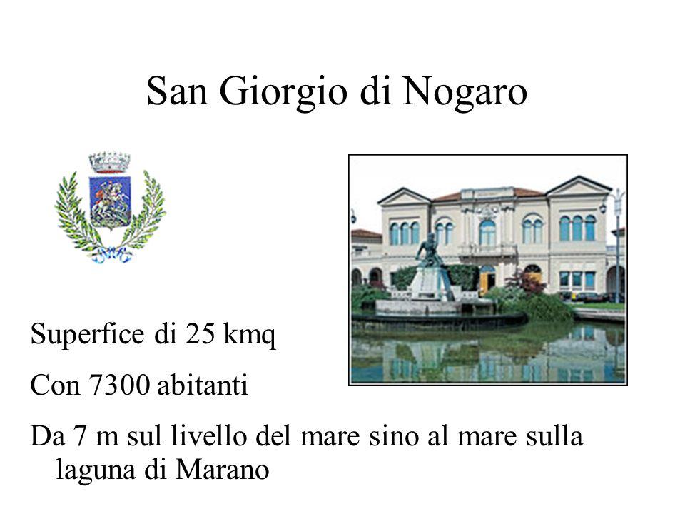 San Giorgio di Nogaro Superfice di 25 kmq Con 7300 abitanti