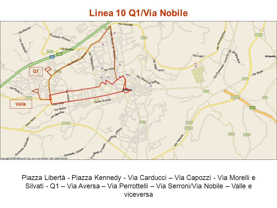 Linea 10 Q1/Via Nobile Q1. Valle.