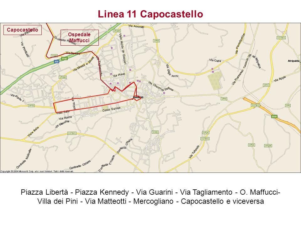 Linea 11 Capocastello Capocastello. Ospedale Maffucci.