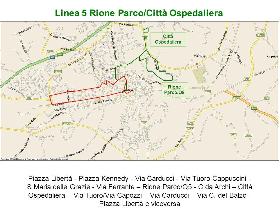 Linea 5 Rione Parco/Città Ospedaliera