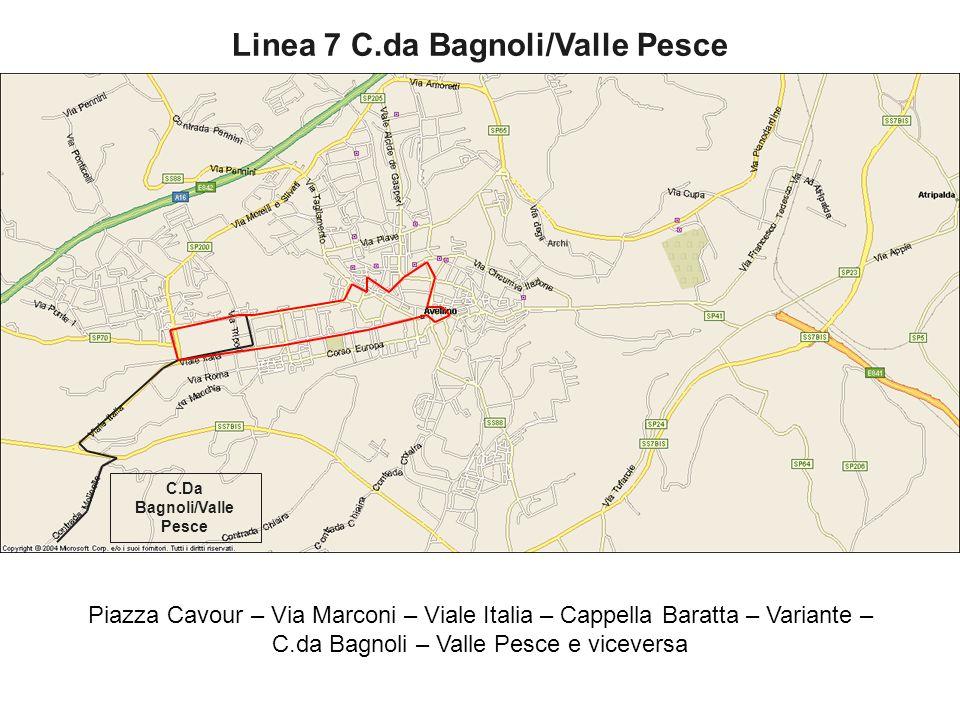 Linea 7 C.da Bagnoli/Valle Pesce C.Da Bagnoli/Valle Pesce