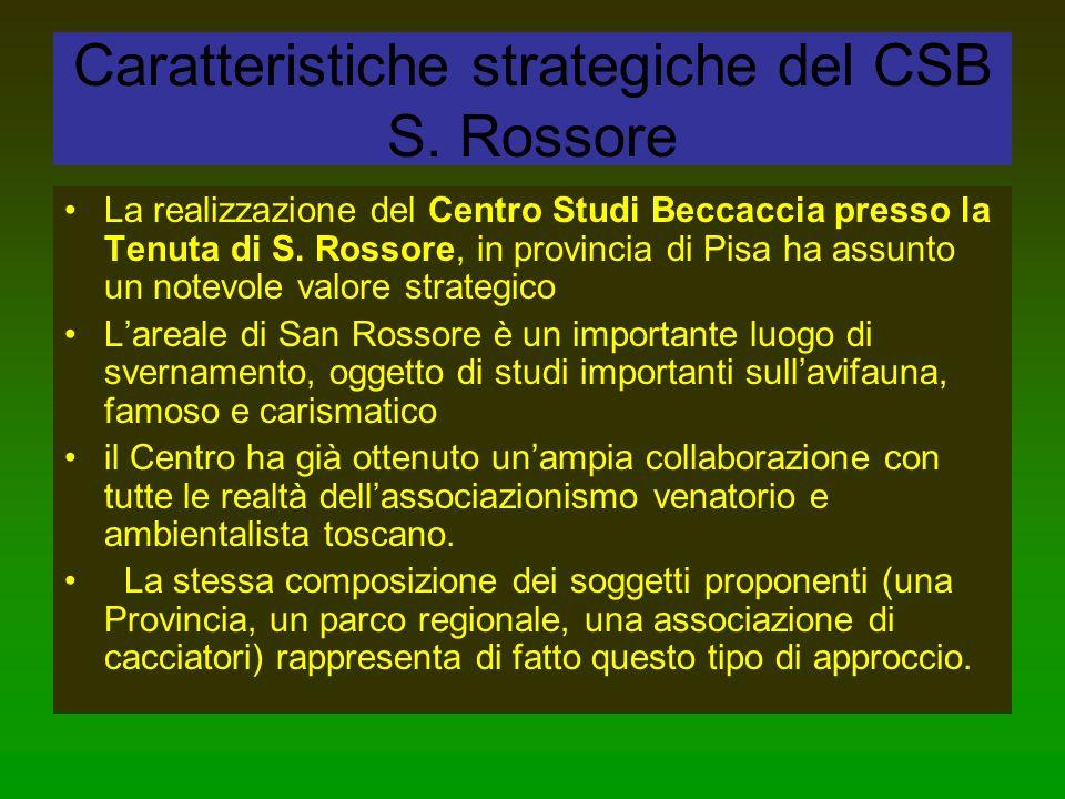 Caratteristiche strategiche del CSB S. Rossore