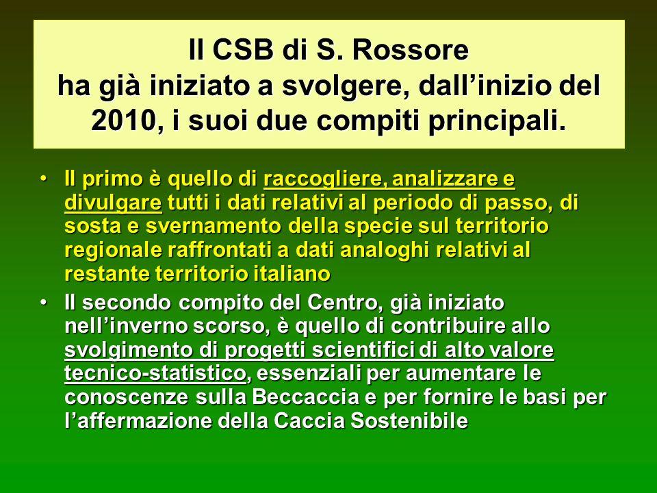 Il CSB di S. Rossore ha già iniziato a svolgere, dall'inizio del 2010, i suoi due compiti principali.