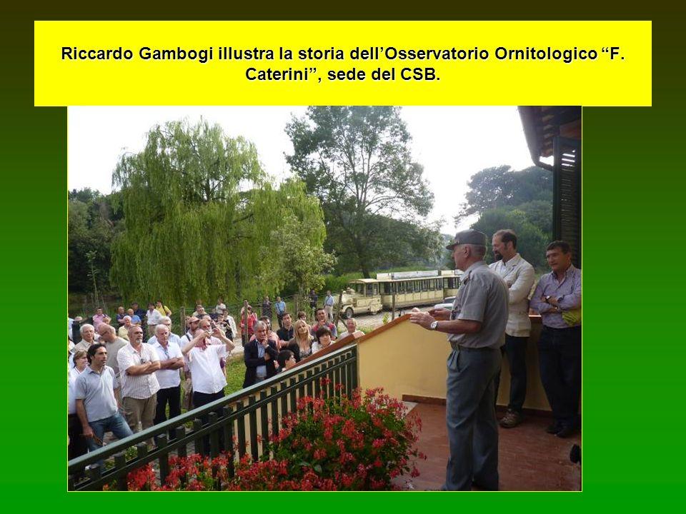 Riccardo Gambogi illustra la storia dell'Osservatorio Ornitologico F