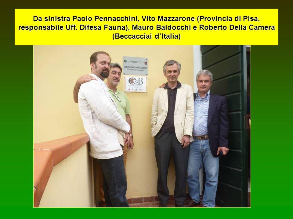 Da sinistra Paolo Pennacchini, Vito Mazzarone (Provincia di Pisa, responsabile Uff.