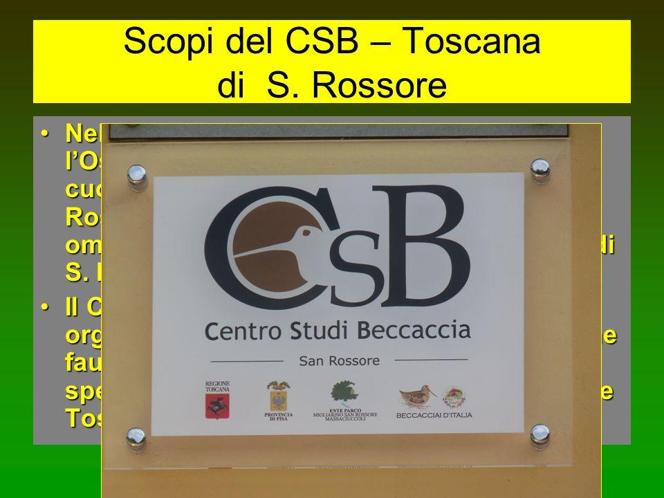 Scopi del CSB – Toscana di S. Rossore